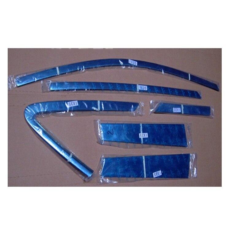 Car styling ABS Window Frame Trim Window Trim Pillar for Hyundai IX35 Window Frame Bottom Sill Trim Car styling 2015 hyundai tucson abs electroplating taillight frame decorative trim trim car styling