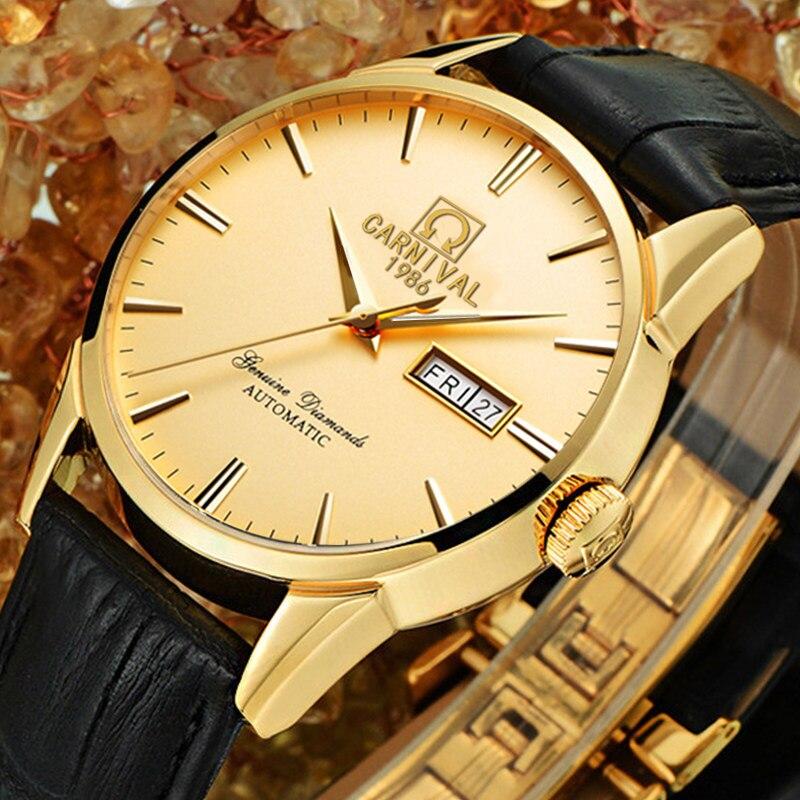Suisse carnaval Top marque de luxe hommes montres automatique montre à remontage automatique hommes saphir reloj hombre relogio horloge C8646G-6