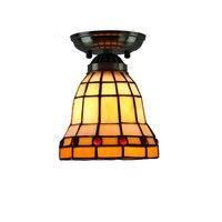 14cm Classic Tiffany Stained Glass Ceiling Light E26 E27 Modern Retro Flush Mount Lamp Bar Balcony