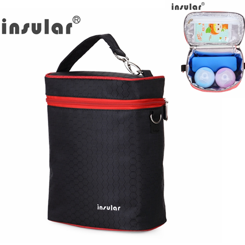 Insular Multi-function Baby Feeding Bottles Insulation Bags for Two 300 L Feeding Bottles Baby Travel Food and Milk Storage Bag