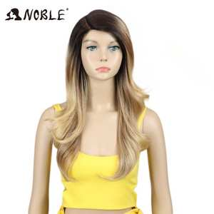 Noble Lace Wigs Synthetic-Hair Hair-Products Heat-Resistant Black Long Straight Women