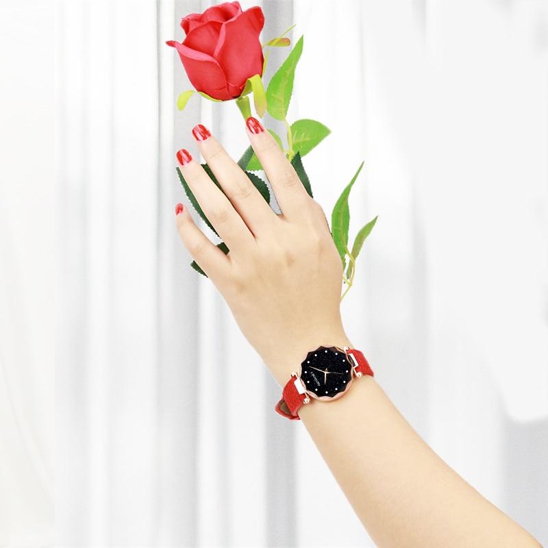 relojes mujer 18 Luxury Brand Gogoey Women Watches Personality romantic starry sky Wrist Watch Rhinestone Design Ladies Clock 24