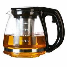 Heißer verkauf 1200 ML Chinesische Teekanne Zitzen Hitzebeständigem Glas Teekanne Home & Office Teekanne Reise Puer teekanne Kostenloser versand