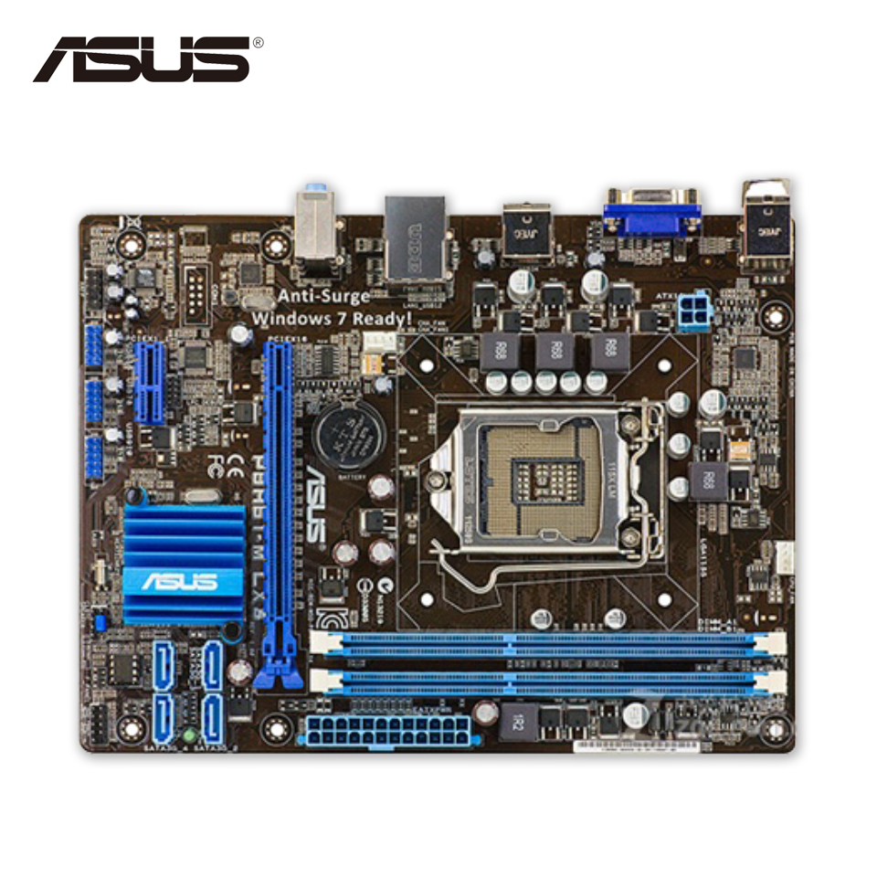 Asus P8H61-M LX3 Desktop Motherboard H61 Socket LGA 1155 i3 i5 i7 DDR3 16G uATX On Sale asus p8h61 m plus v2 desktop motherboard h61 socket lga 1155 i3 i5 i7 ddr3 16g uatx on sale