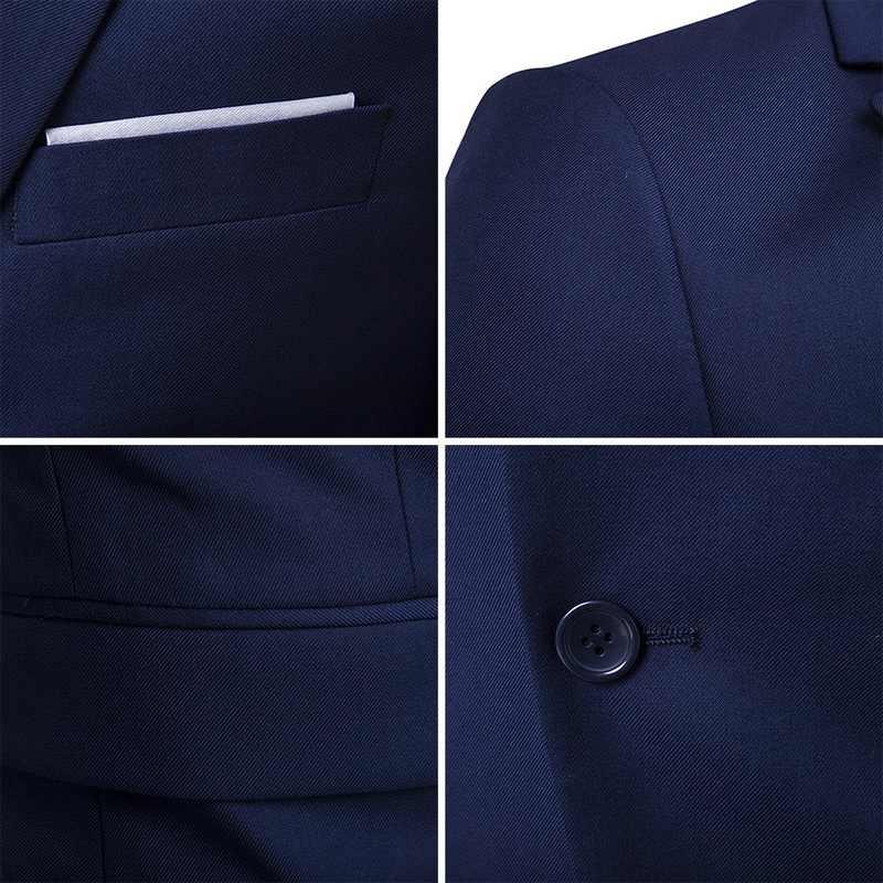 2019 メンズ 3 個ブレザーパンツベスト社会スーツ薄型男性ファッションソリッドビジネススーツセットカジュアルフォーマルな衣装オム