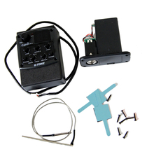 Cherub Acoustic Guitar Preamp GT-4 Three Band EQ Pickup with High/Low/Medium Frequence Equalizer Adjustable guitar pick holder