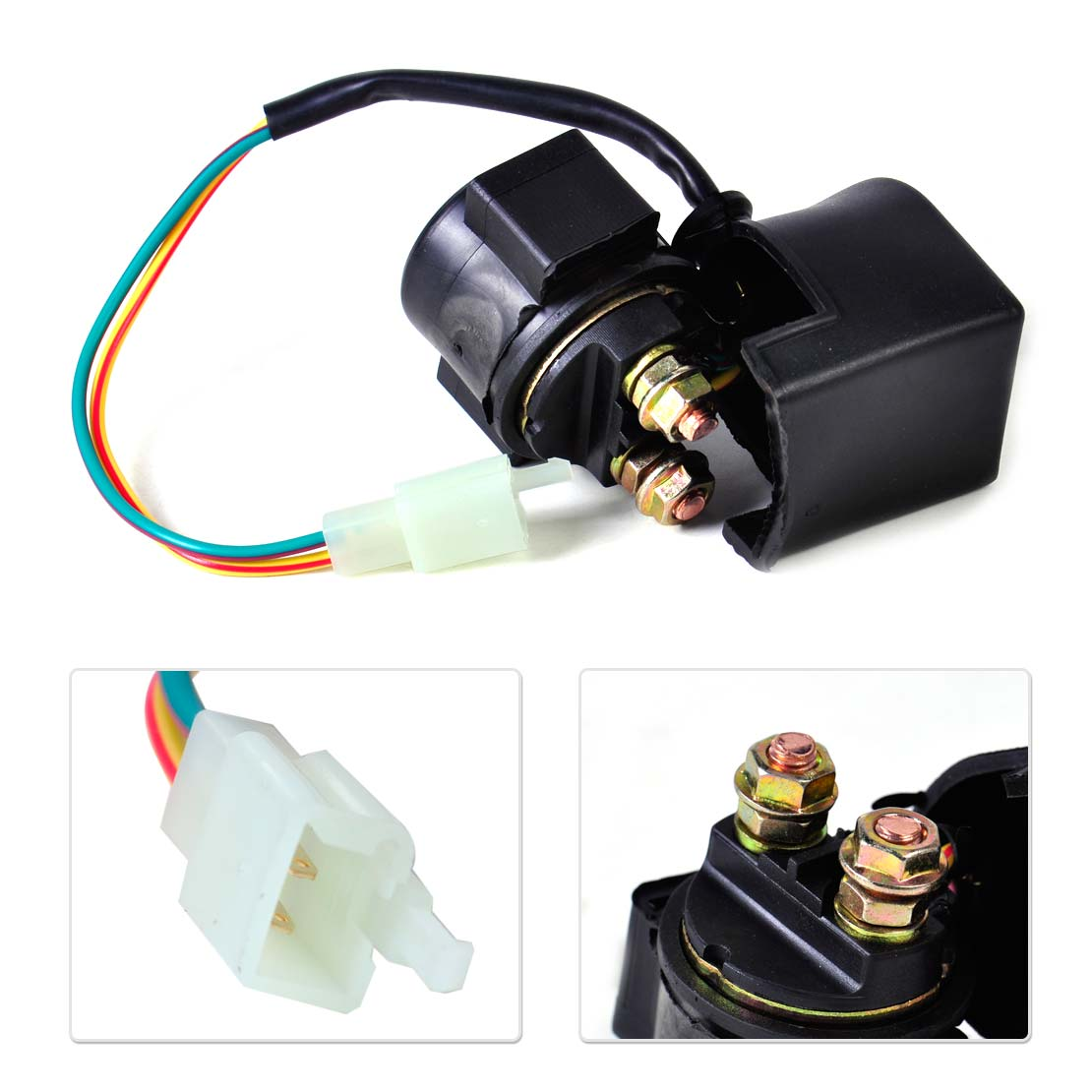 Dwcx new starter solenoid relay for atv scooter 70cc 150 250cc xs360 taotao roketa sunl baja kazuma motorcycle electrical part