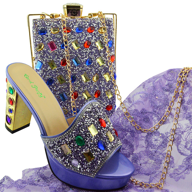 Newest Popular Women Shoes And Bag Set African Shoes and Bag To Match VIOLET High Quality Nigerian Party Shoes And Bag setNewest Popular Women Shoes And Bag Set African Shoes and Bag To Match VIOLET High Quality Nigerian Party Shoes And Bag set