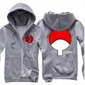 Homens de moda primavera outono hoodies moletons casacos naruto sasuke uchiha bola sportswear homens zipper jacket clothing 4 cores