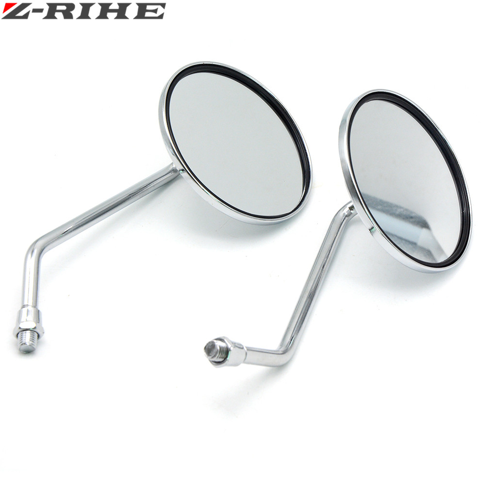 Motorcycle Back View Mirror Electric Bicycle Rearview Mirrors Moped Side Mirror 8mm Round FOR YAMAHA Suzuki kawasaki ducati ktm in Side Mirrors Accessories from Automobiles Motorcycles