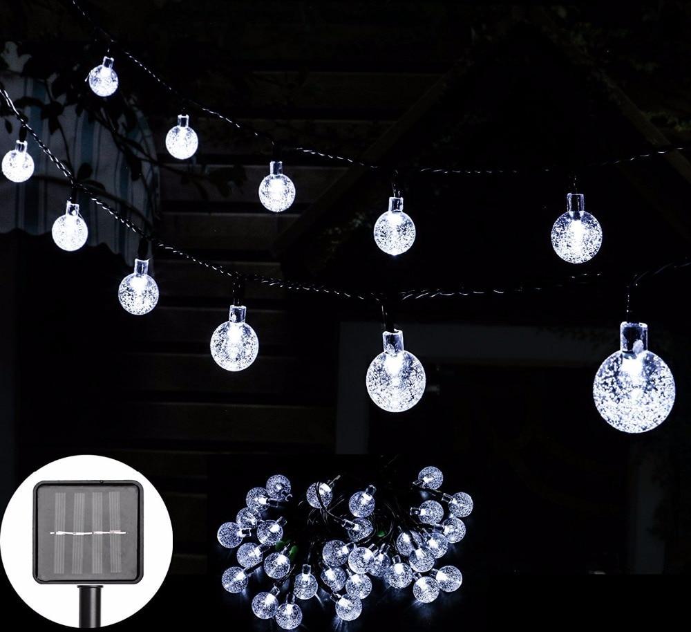 Mini String Lights Crystal Ball- White 2-20ct   Crystal Light Show String