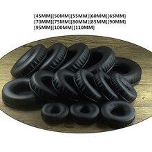 Almohadillas blandas de PU para auriculares Sony, de 45mm, 50mm, 60, 65, 70mm, 75, 85, 90, 95, 100, 105mm, para AKG y Sennheiser para ATH y Philips