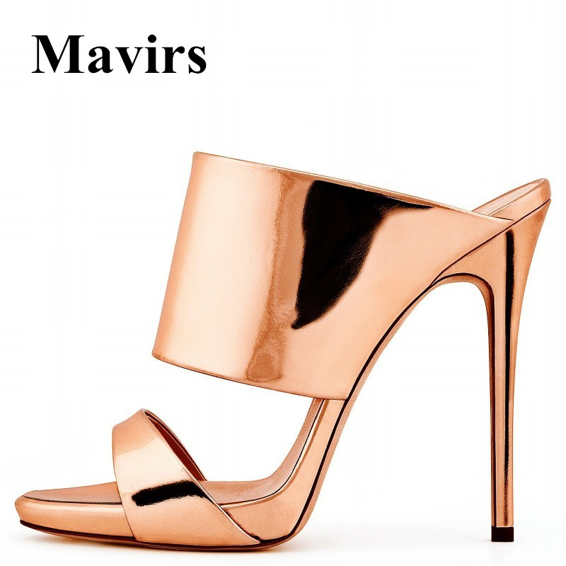 MAVIRS Brand Women Mules 2018 Summer Sexy Peep Toe Slip On High Heels Slide Dress Sandal Shoes Sandalias Feminina US Size 5-15 hot women party sandals 2016 summer brand elegant high heels sandalias women s dress shoes sandal sjl342 page 7
