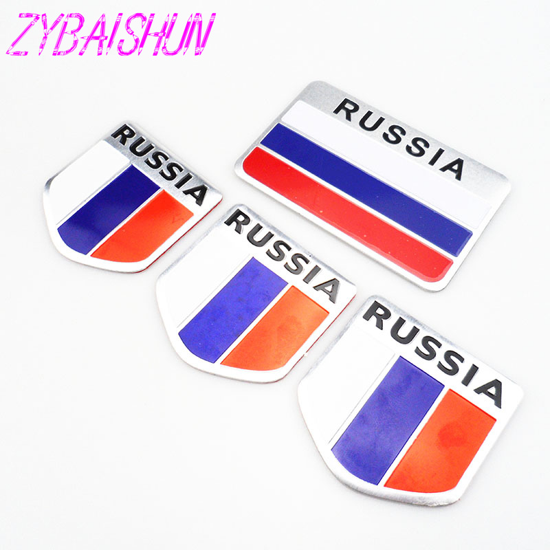 <font><b>2018</b></font> High Quality 3D Aluminum Flag Russia Car Sticker Accessories Stickers for <font><b>Honda</b></font> <font><b>CRV</b></font> Accord Odeysey Crosstour FIT Jazz image