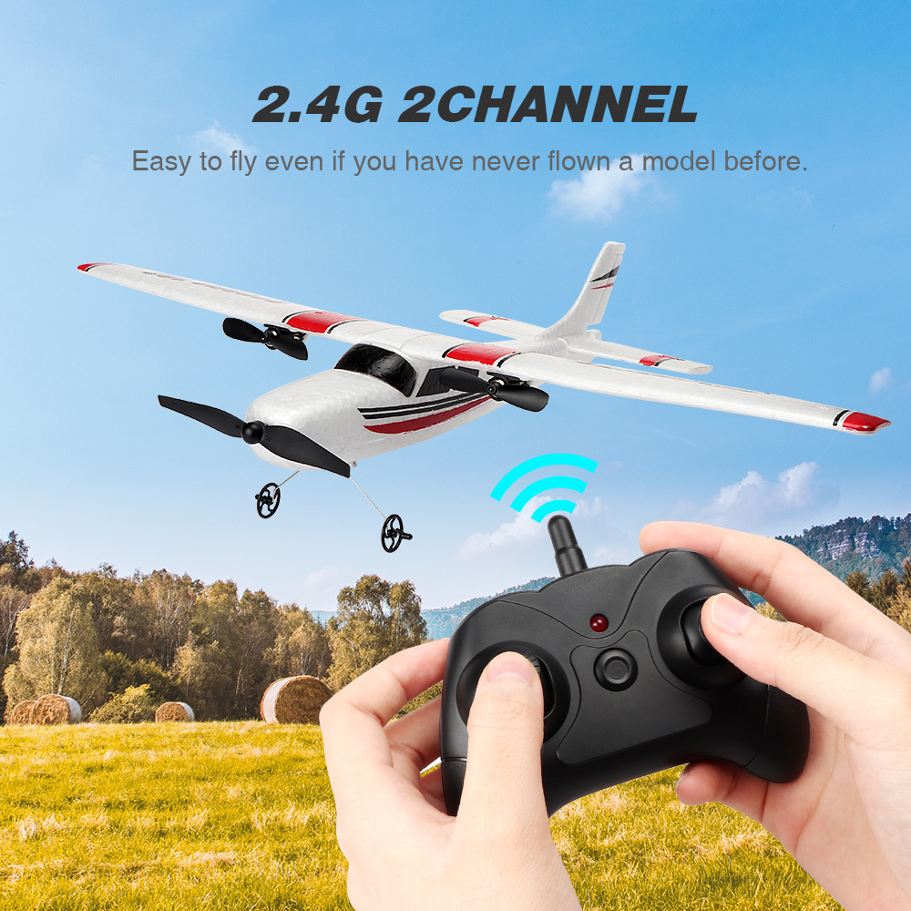 RC Plane EPP Foam Glider Airplane Gyro 2.4G 2CH RTF Remote Control Wingspan Aircraft Funny Boys Airplanes Interesting Toys