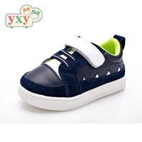 YXY high quality Genuine pig Leather fashion sneakers shoes baby boys children girls hook&loop running kids casual shoes