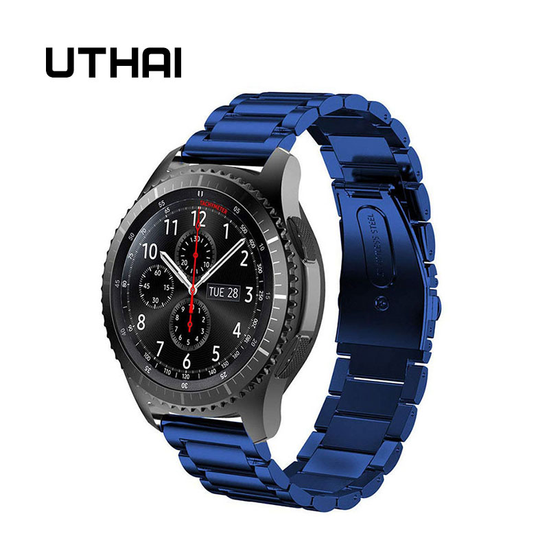 UTHAI S07 Suit For Samsung Gear S2/S3 20mm 22mm Stainless Steel Watchband Stylish Simplicity