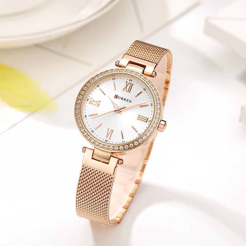 CURREN Rose Gold Watch Women Watches Ladies Stainless Steel Women's Bracelet Watches Female Relogio Feminino Montre Femme 9011