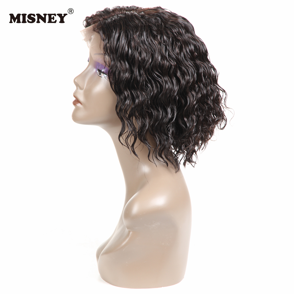 Remy Human Hair Culry Wig Jerry Curl Bob Lace Front Wigs Pre Plucked Short Bob Frontal Lace Wig With Baby Hair Hand Tied