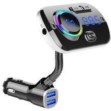 Bluetooth 5.0 car kit hands-free calling FM transmitter AUX audio player A2DP wireless MP3 universal fast charging QC3.0