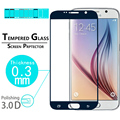 "Full coverage Screen Protective glass Film For Samsung Galaxy S6 5.1"" Premium Glossy 3D full Curved Edge Tempered Glass films"