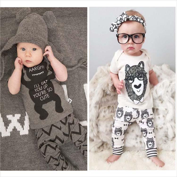 2016 letní styl 1set dětské oblečení dětské oblečení - Oblečení pro miminka