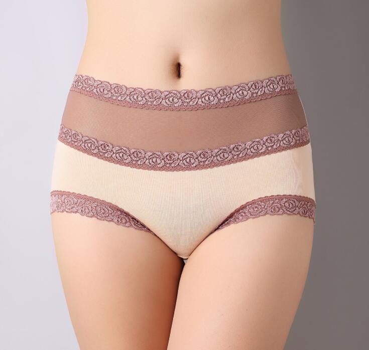 Buy L-XL Newest Women G String Lace Briefs Panties Sexy Underwear Transparent Super Thin Hollow Thongs Plus Size