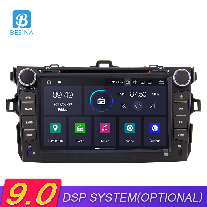 Besina Android 9.0 Car DVD Player For <font><b>TOYOTA</b></font> <font><b>COROLLA</b></font> 2007-2010 <font><b>2011</b></font> 2012 <font><b>Multimedia</b></font> GPS Navigation Stereo 2 Din Car Radio WIFI image