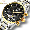 KINYUED brand Tourbillon Mechanical Watch Men Stainless Steel Strap band Waterproof Automatic Men's Watch relogio masculino