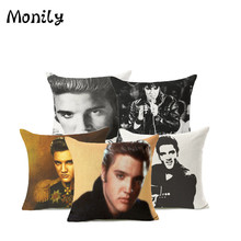 Fashion Elvis Presley Throw Pillow Covers Rock Idol Cushion Cover Cotton  Linen Square Pillow Case For