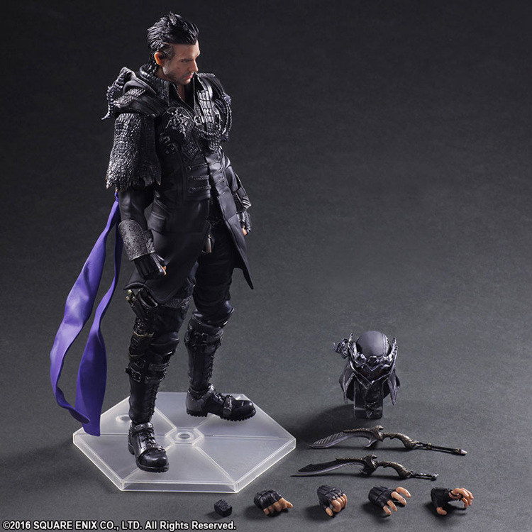 Final Fantasy Play Arts Kai Nyx Ulric Figure 26cm PVC Action Figure Final Fantasy VII Squall Doll Toys Play Arts Kai final fantasy play arts kai action figure 250mm cloud sephiroth squall pvc anime toy collection model figurine play arts kai