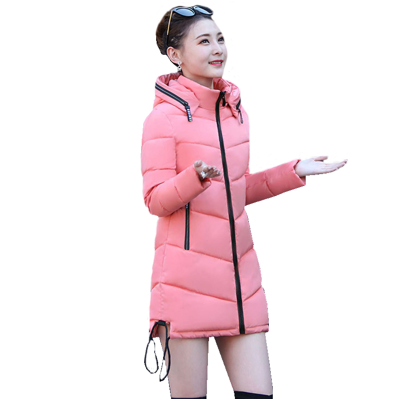 2017 Winter Jackets For Women Warm Thick Hooded Solid Ukraine Winter Cotton Jacker Women Long Coat Jacket Casual Outcoats 567