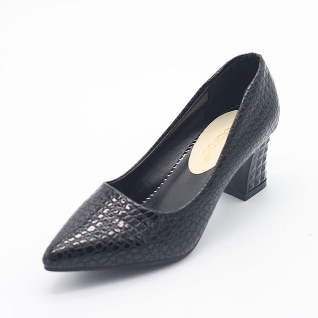 POADISFOO Woman Square Heel Pumps Autumn Fashion Shoes Pu Shallow low-heeled Shoes With High Heel Pointed Shoes .LSS-888 [328] women autumn fashion shoes pu skin shallow low heeled shoes with high heel pointed shoes for ol lss 888