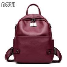 AOYI Мода 2017 г. бренд Для женщин рюкзак искусственная кожа рюкзак сумка Школа обратно мешок для подростка Обувь для девочек рюкзак Mochila Новый