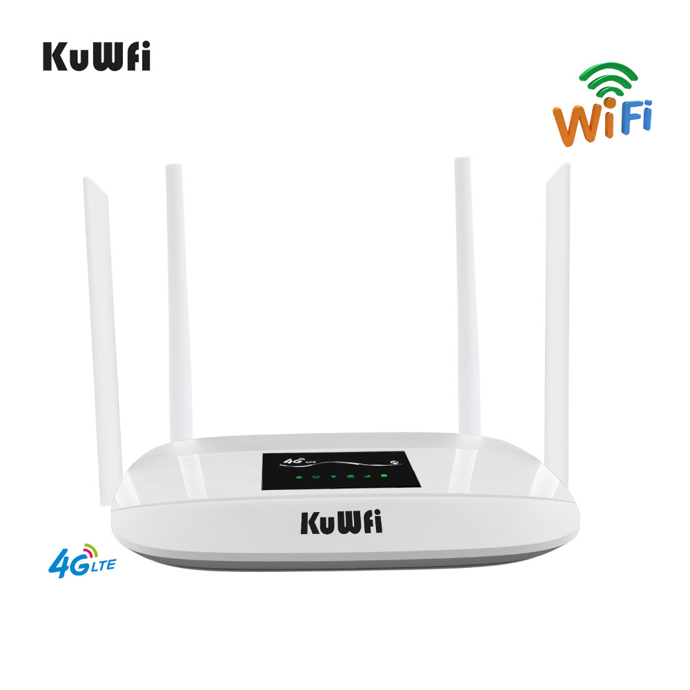 Image 3 - 300Mbps Unlocked 4G LTE Wifi Router, Indoor 4G Wireless CPE Router with 4Pcs Antennas and LAN Port&SIM Card Slot Up to 32users-in Wireless Routers from Computer & Office