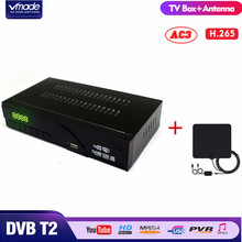 Vmade DVB-T2/T H.265/HEVC HD 1080P Digital Terrestrial Receiver Support Youtube Dolby AC3 + Indoor TV Antenna Combo Set Top Box