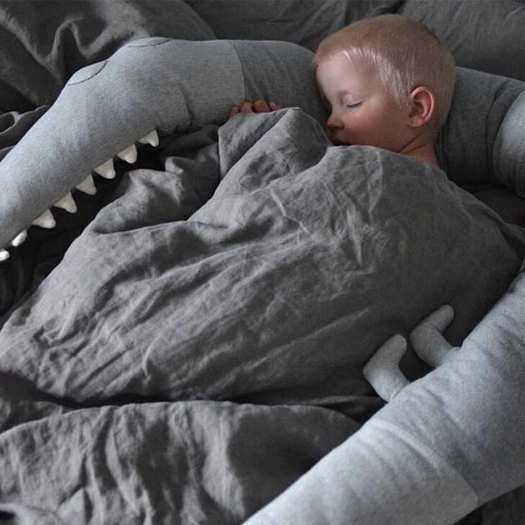 185 ซม. เตียงกันชนเด็กจระเข้หมอนทารก Crib รั้วกันชนทารกแรกเกิด Cradle Cushion เด็กตกแต่งห้อง Photo props