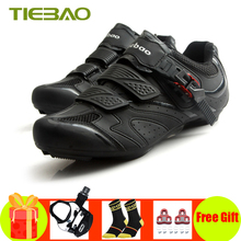 TIEBAO sapatilha ciclismo bicicleta road bike shoes 2019 self-locking SPD-SL pedals cycling sneakers Breathable zapatos ciclismo sidebike cycling shoes road men carbon sapatilha ciclismo mtb bike shoes zapatos bicicleta sneakers self locking white 2019 new