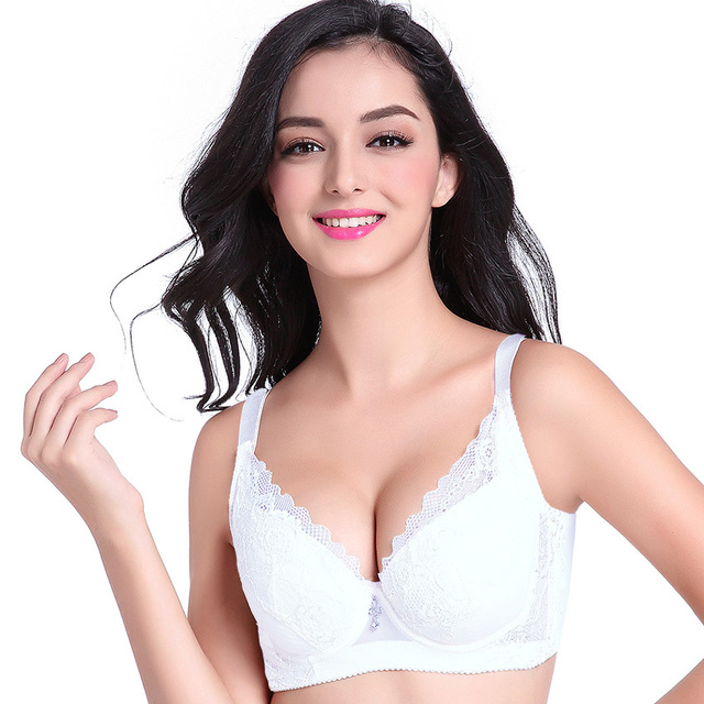 23215b9ab9 White Black Woman s Bra Soft Cup Cotton Large Size bra Big Breast Support  75 80 85