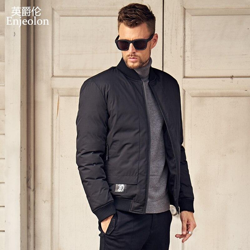 Enjeolon Brand 2020 Winter Jacket Coat Men Winter Coat Windproof Parka Men Black Thick Quilted Mens Parka Coat Clothes MF0293