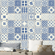 20pcs Set Retro Tile Stickers Living Room Kitchen Waterproof Wall Bathroom Self Adhesive Removable