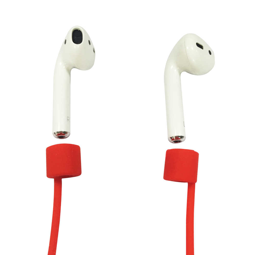 1 PC untuk Airpods Silikon Anti Hilang Tali Leher Wireless Earphone String Tali Kabel Headphone Earphone Aksesoris