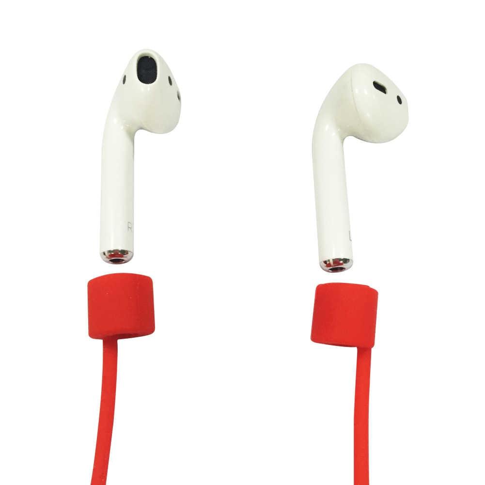 1 قطعة ل AirPods سيليكون مكافحة خسر الرقبة حزام اللاسلكية سماعة سلسلة حبل سماعة الحبل الملحقات سماعة
