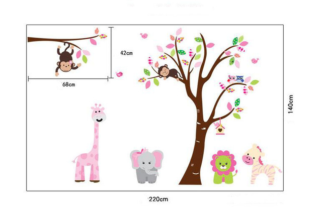 Cute Jungle Animals Tree Monkey