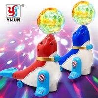 電気アシカアクロバットボール3d光投影電気ユニバーサルパズル動物のおもちゃ電動ペットおもちゃ音楽のおもち