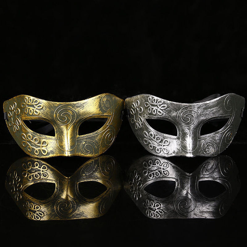 Hot Sale Lovely Men Burnished Antique Silver/Gold Venetian Mardi Gras Masquerade Party Ball Mask