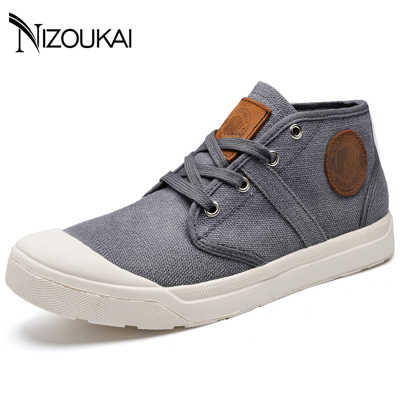 New 2018 Spring Summer Men Canvas Shoes Men Sneakers Mid top Black Mens Shoes Casual Brand Fashion Sneakers Male Footwear fashion pleated leather mens casual shoes spring autumn new high top men shoes ankle mens sneakers zipper casual footwear