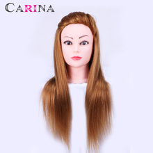 24 Training Head Hair Brown Color 50% Real Human Hairdresser Mannequin With Hairdressing Doll Heads For Sale