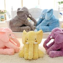1 шт. 60 см Моды Baby Животных Слон Стиль Кукла, Чучело Слона Плюшевые Подушки Детские Игрушки Детская Комната Кровать Спать подушка
