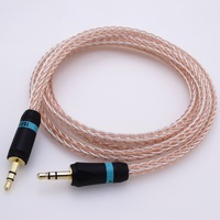 1Meter 16 Cores Hybrid 3.5mm Male to Male jack Car AMP DAC PHONE MP3 aux audio cable Audio Adapter Cable